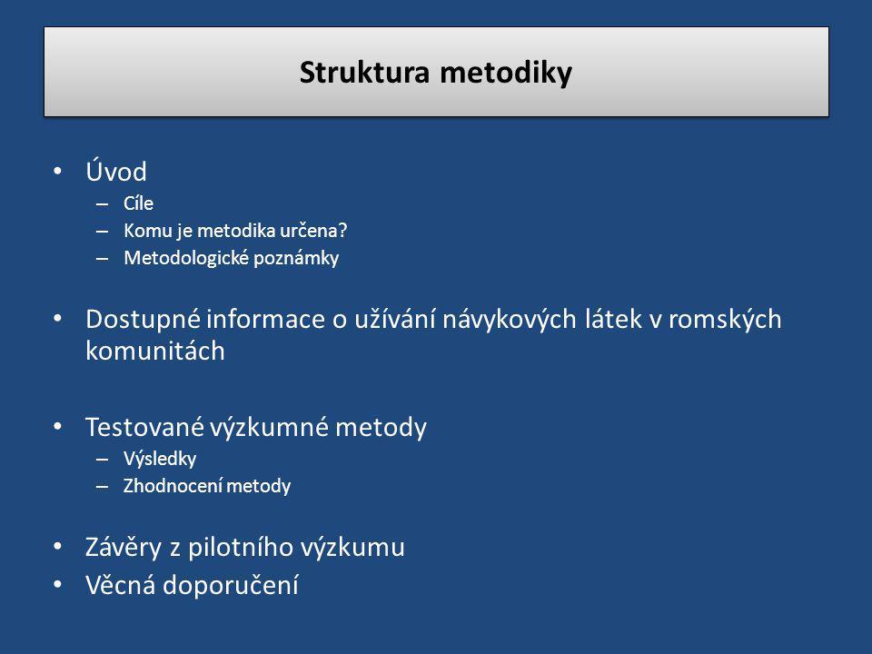 Struktura metodiky Úvod