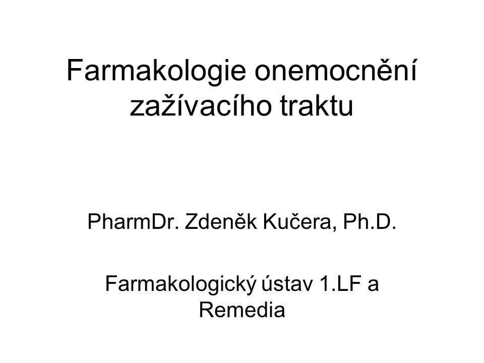 Farmakologie onemocnění zažívacího traktu