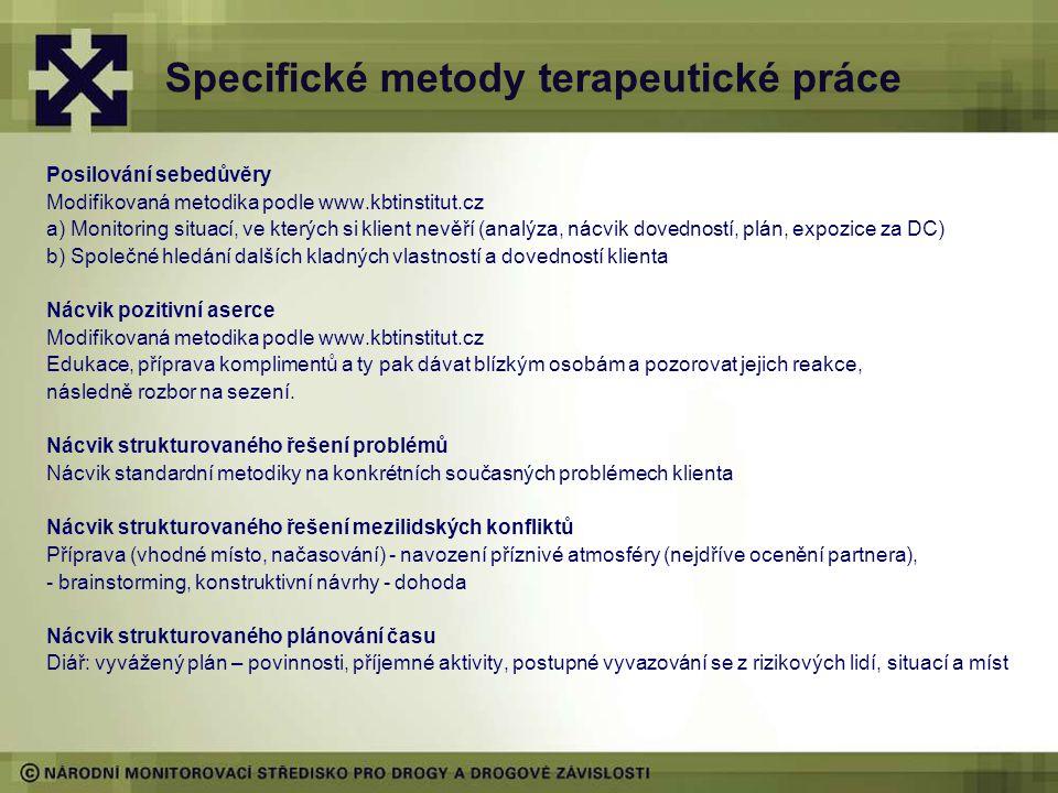 Specifické metody terapeutické práce