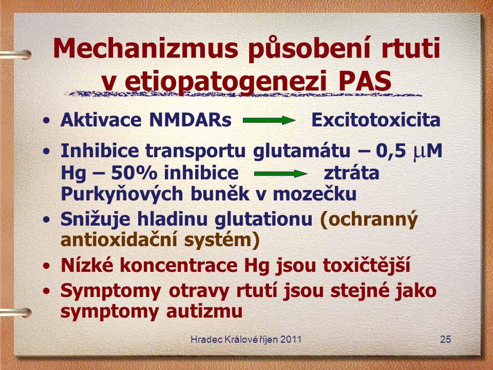 Mechanizmus působení rtuti v etiopatogenezi PAS