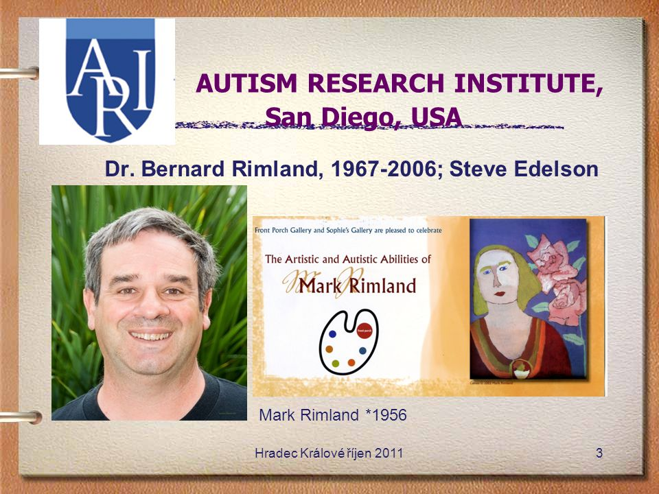 A AUTISM RESEARCH INSTITUTE, San Diego, USA