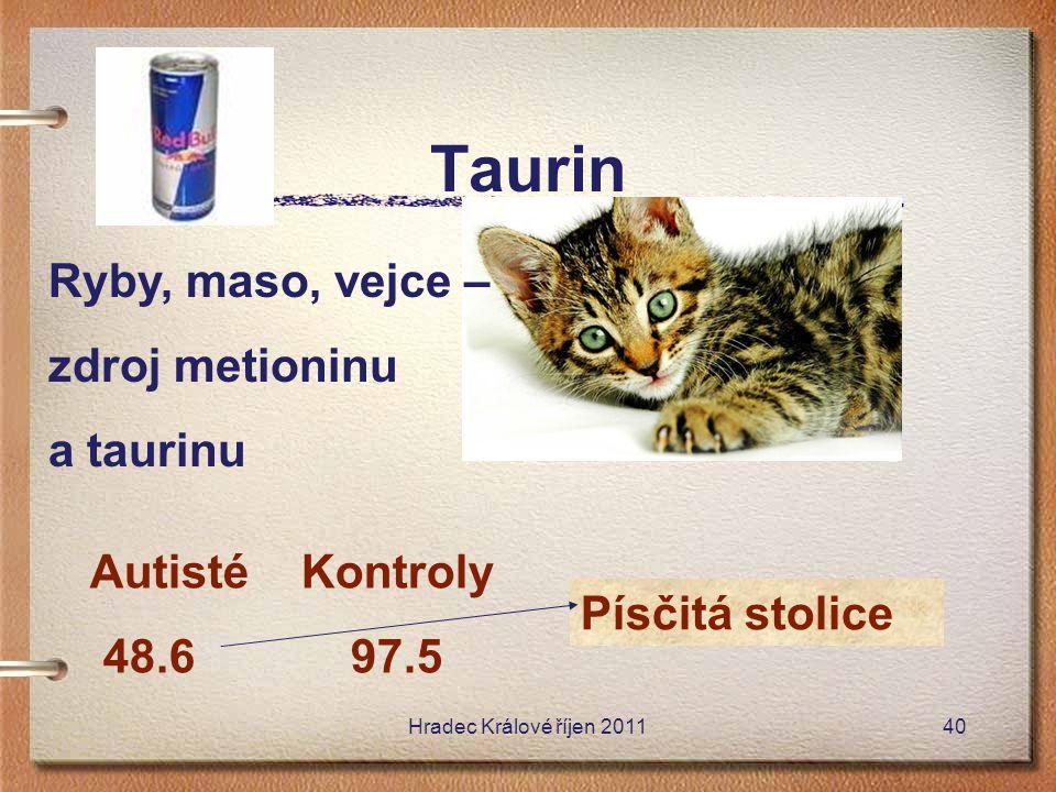 Taurin Ryby, maso, vejce – zdroj metioninu a taurinu Autisté Kontroly