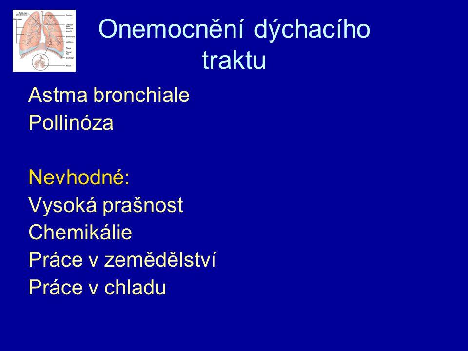 Onemocnění dýchacího traktu