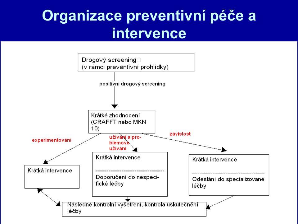 Organizace preventivní péče a intervence