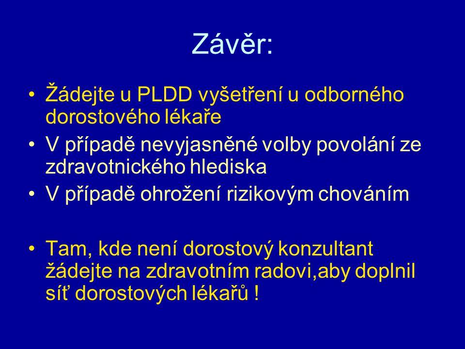 Závěr: Žádejte u PLDD vyšetření u odborného dorostového lékaře