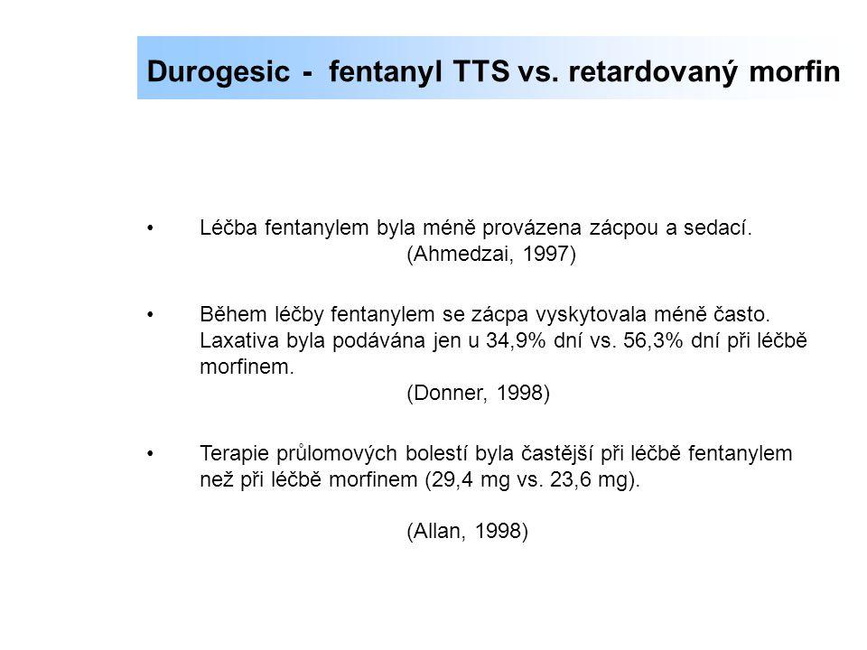 Durogesic - fentanyl TTS vs. retardovaný morfin