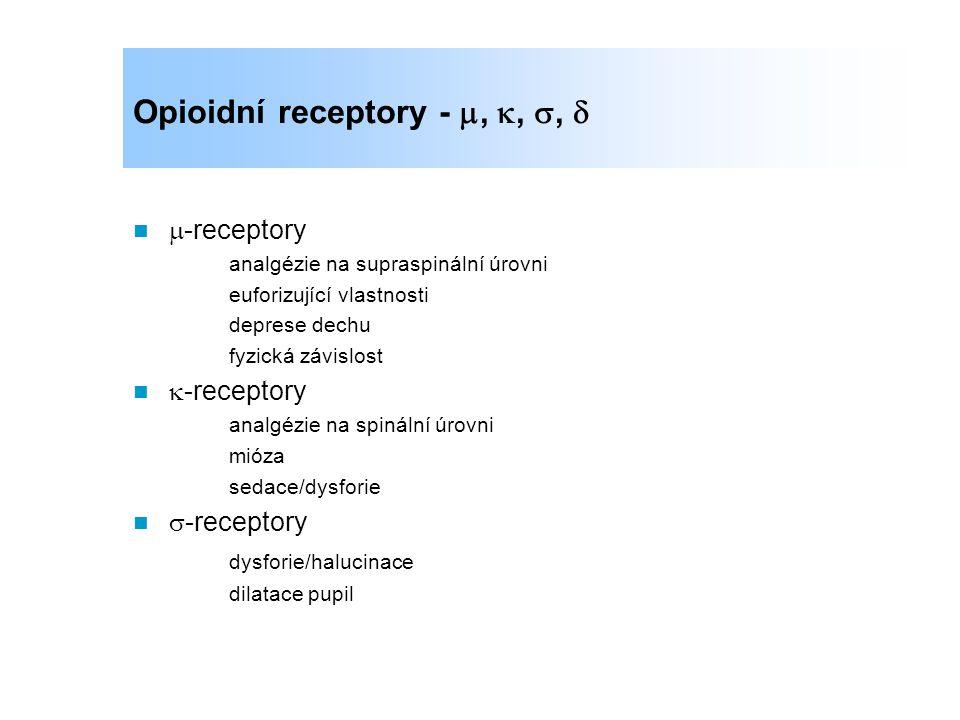 Opioidní receptory - , , , 