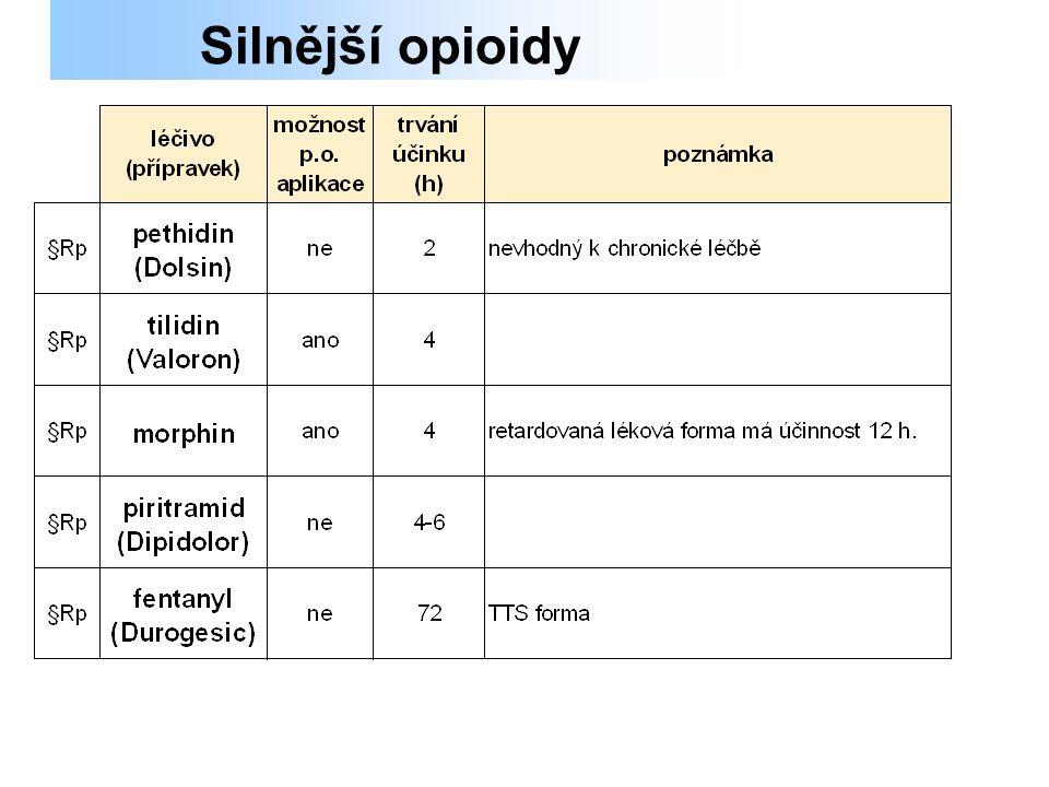 Silnější opioidy