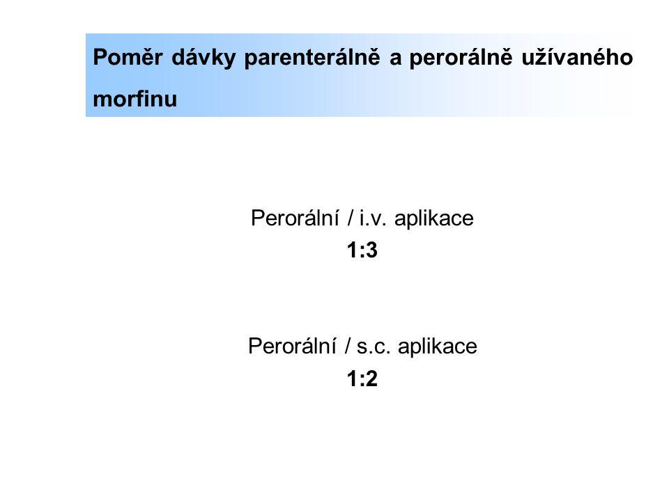Poměr dávky parenterálně a perorálně užívaného morfinu