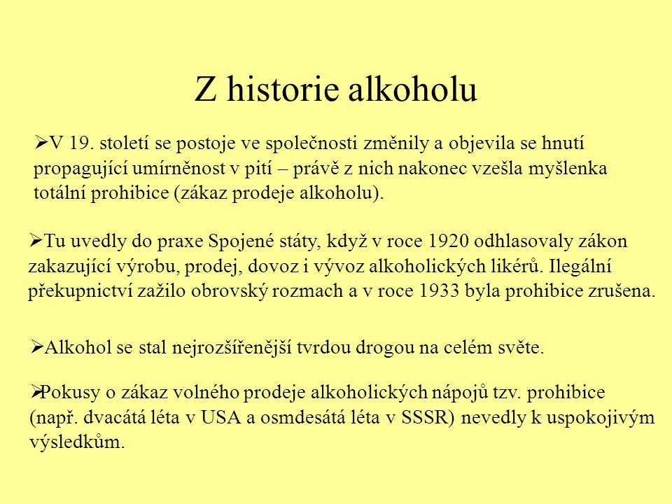 Z historie alkoholu