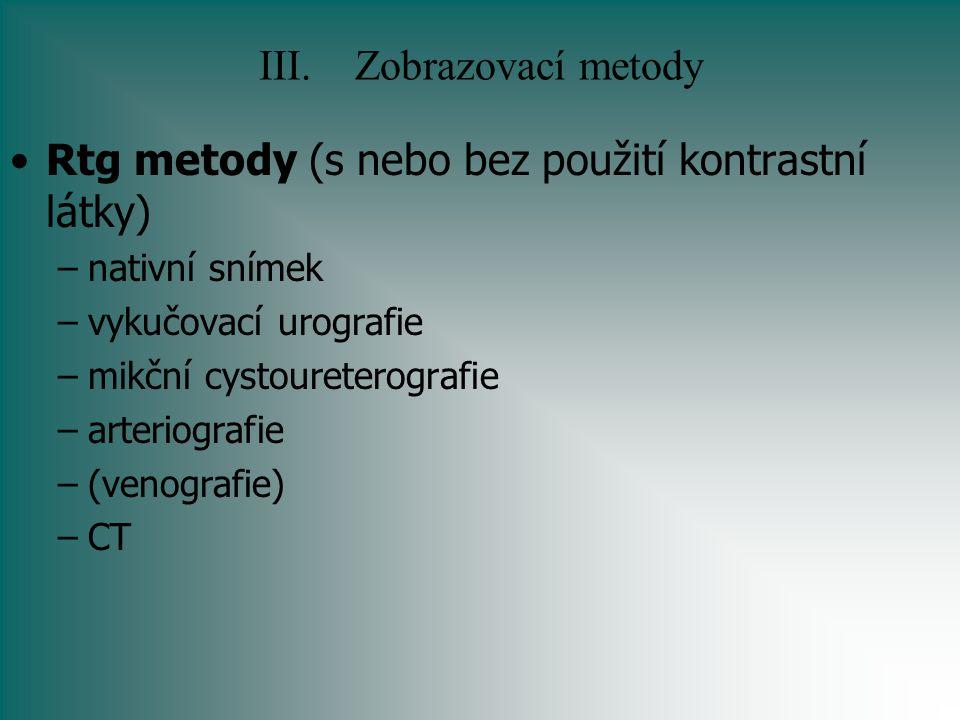 III. Zobrazovací metody