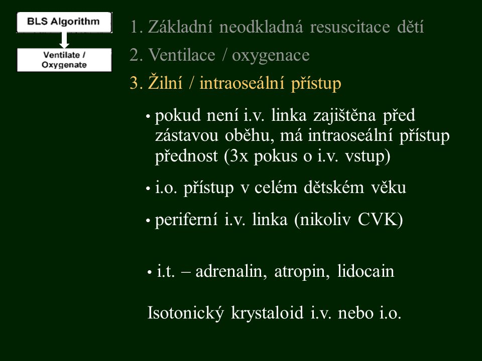 1. Základní neodkladná resuscitace dětí