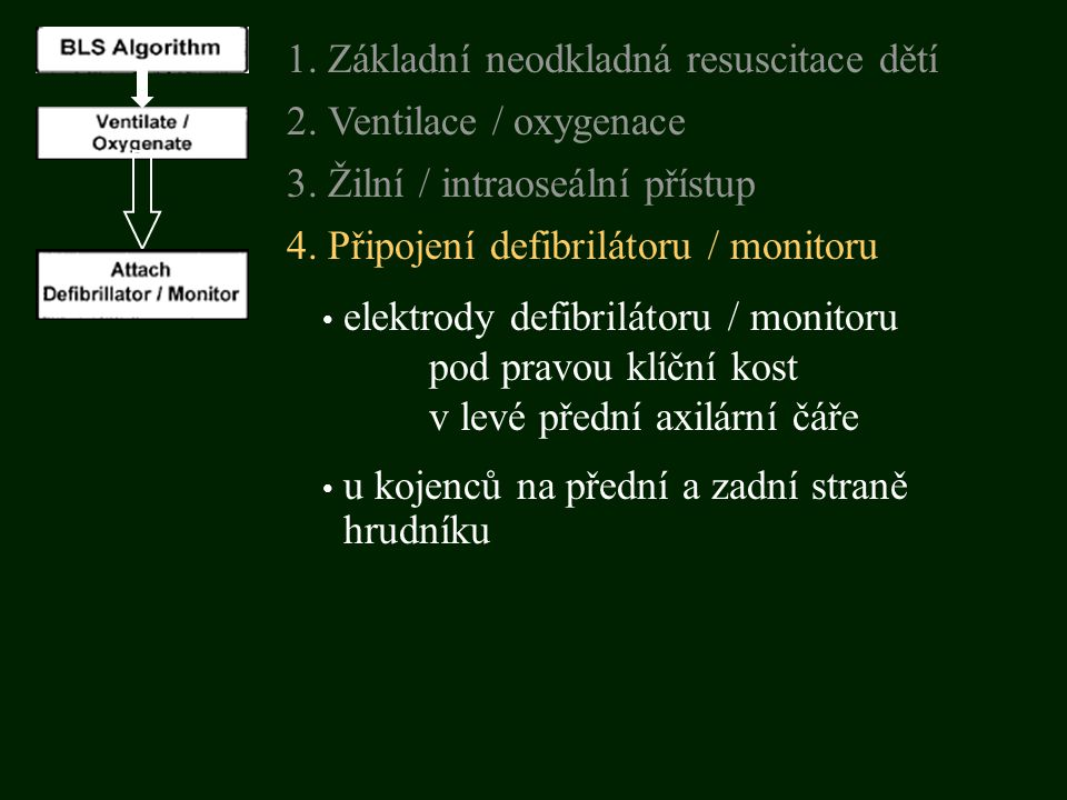 3. Žilní / intraoseální přístup