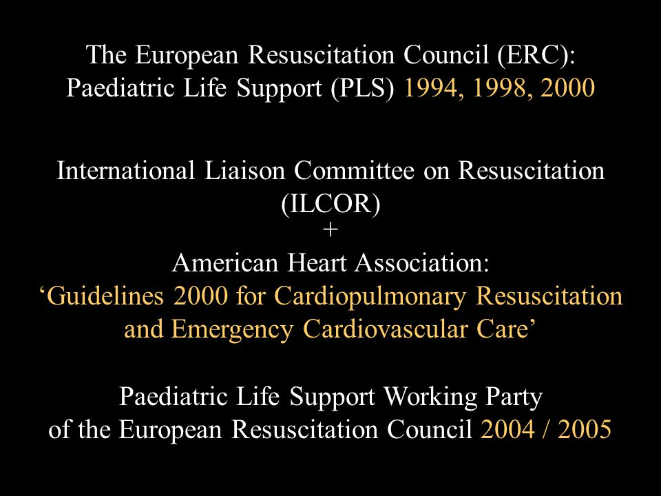 The European Resuscitation Council (ERC):