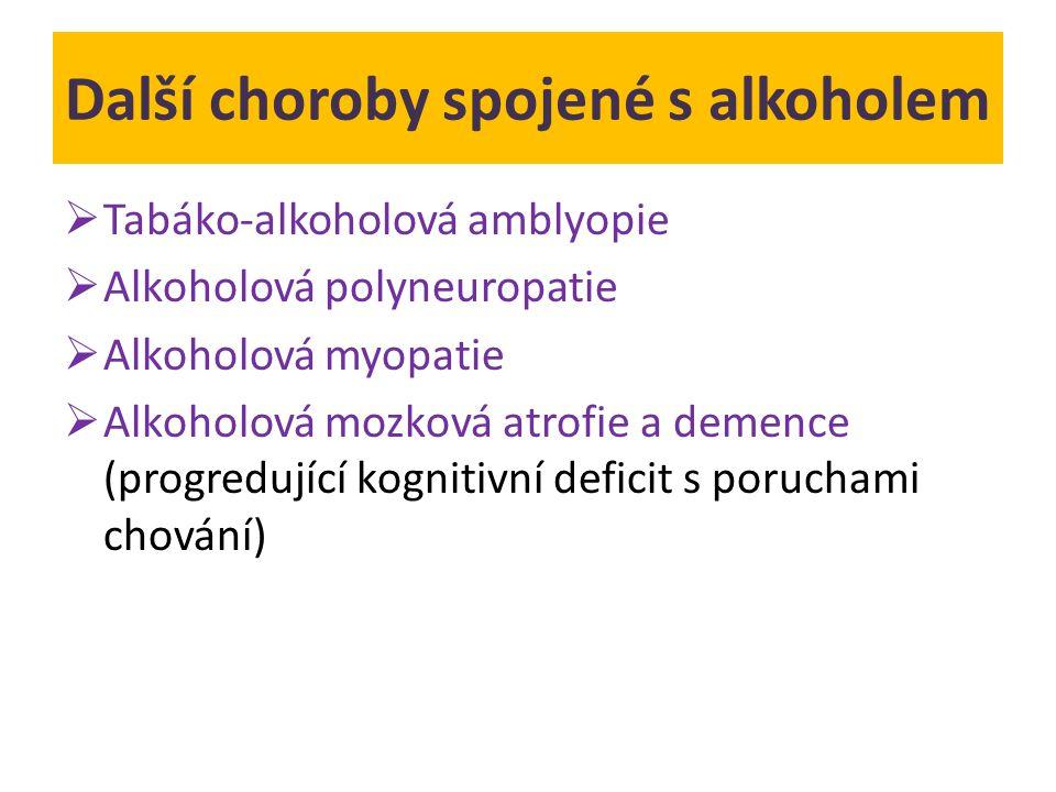 Další choroby spojené s alkoholem