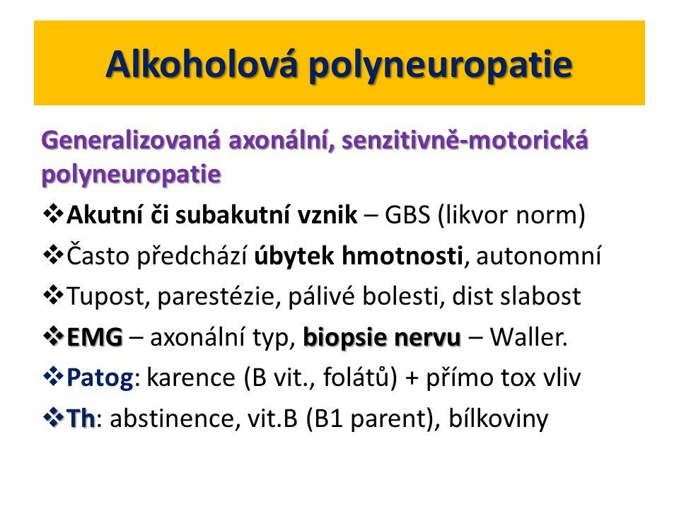 Alkoholová polyneuropatie