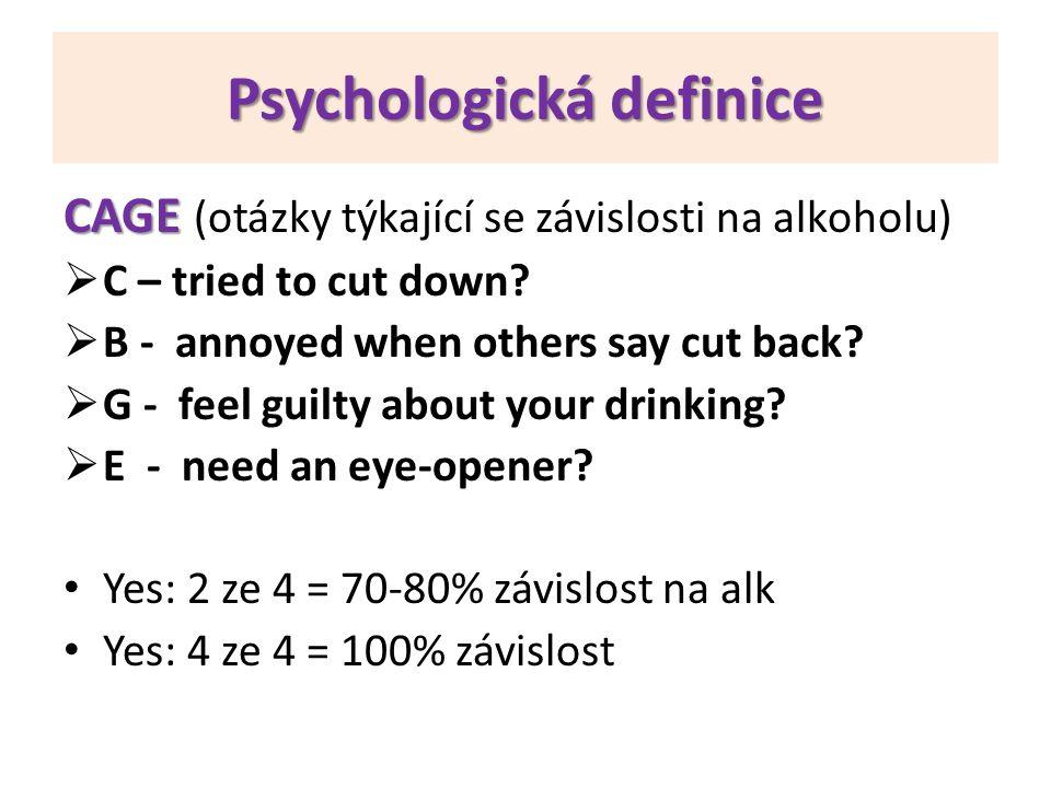Psychologická definice
