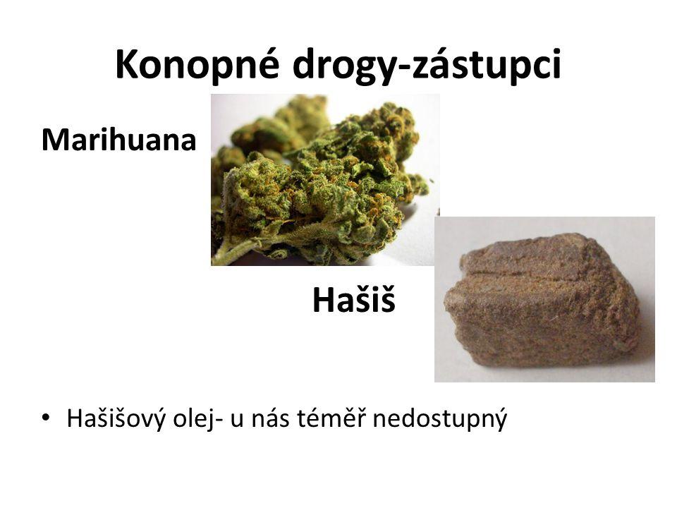Konopné drogy-zástupci