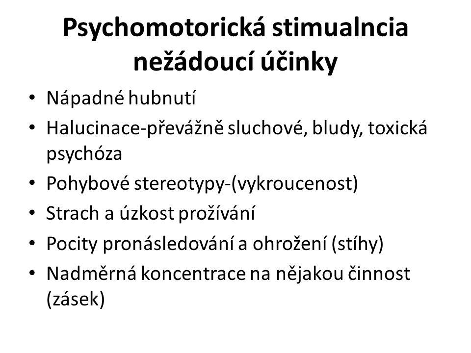 Psychomotorická stimualncia nežádoucí účinky