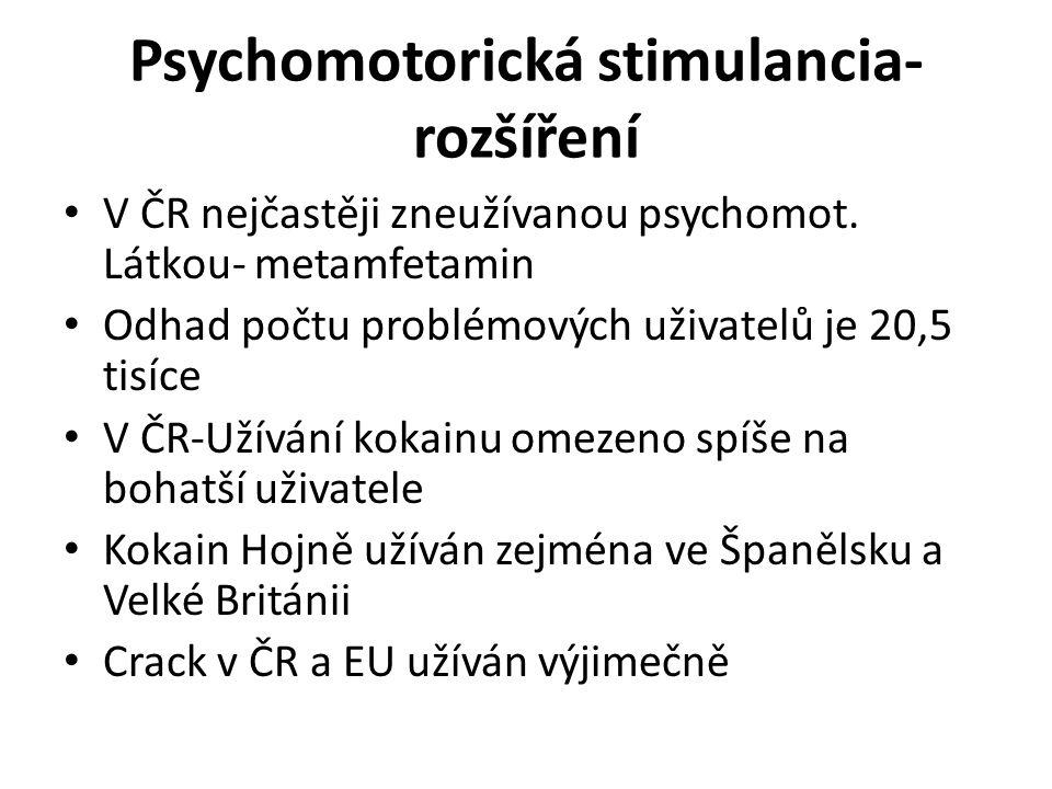 Psychomotorická stimulancia- rozšíření