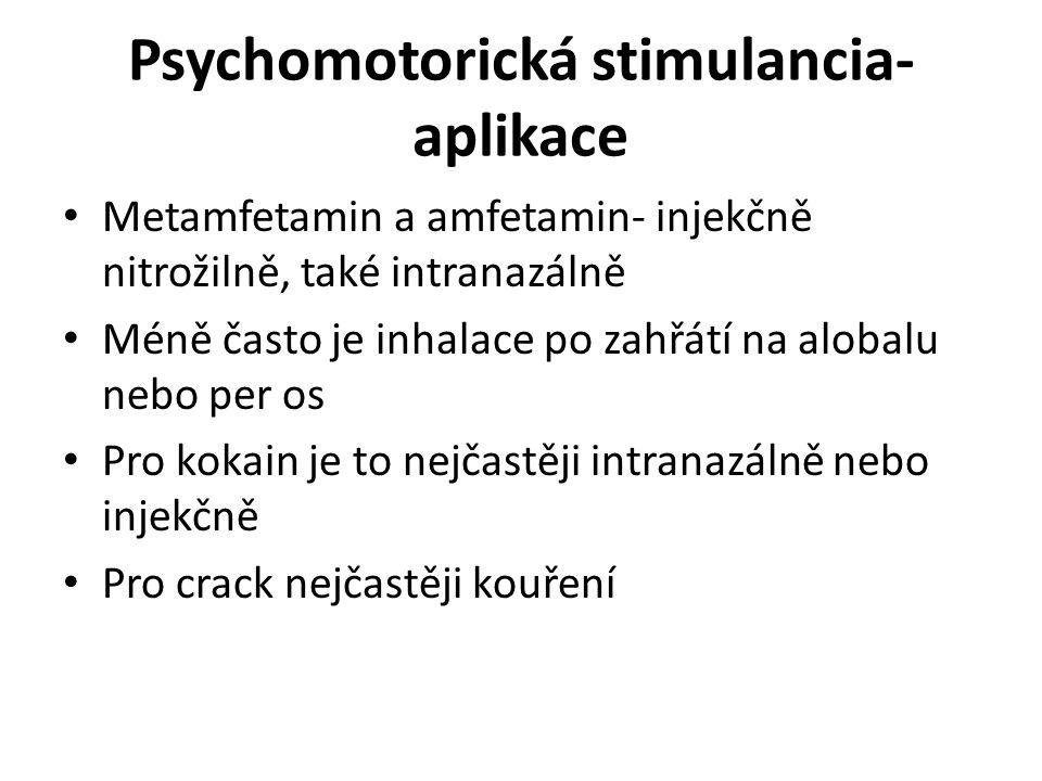 Psychomotorická stimulancia- aplikace