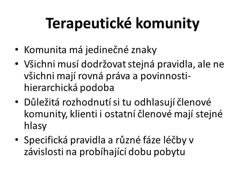 Terapeutické komunity
