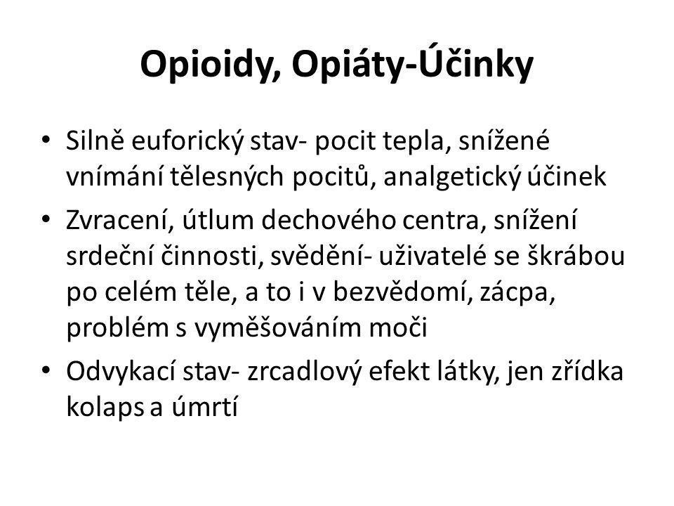 Opioidy, Opiáty-Účinky
