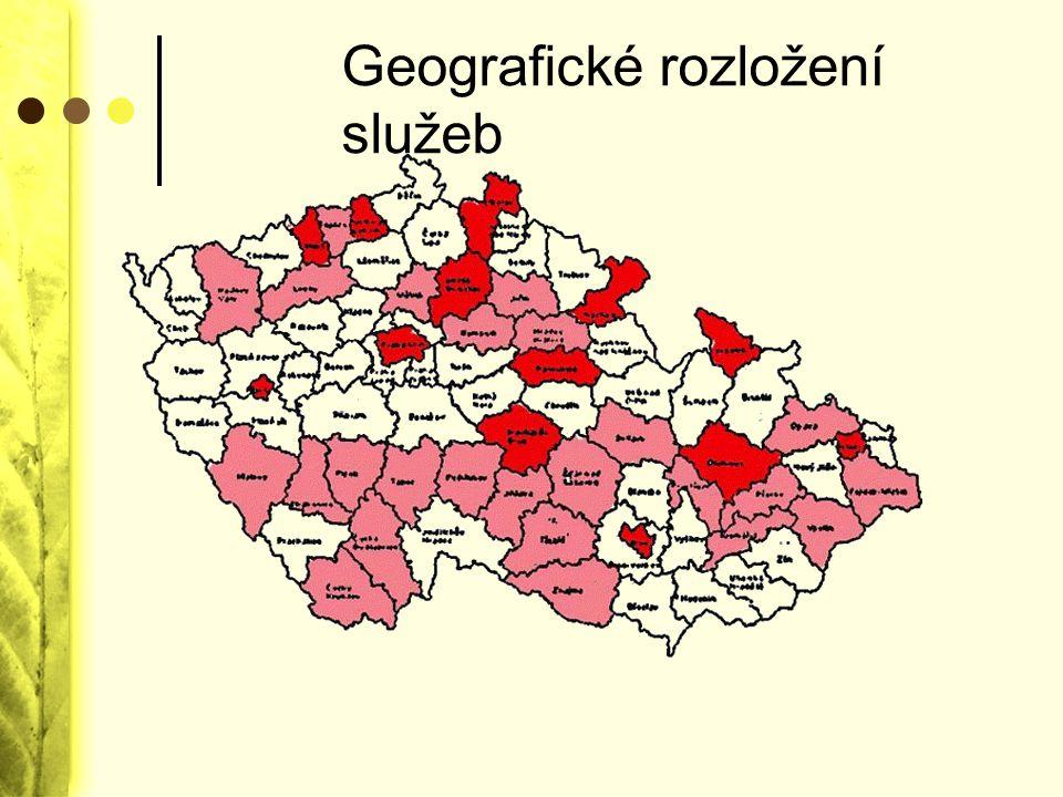 Geografické rozložení služeb