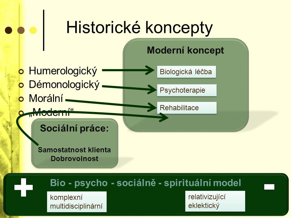 Bio - psycho - sociálně - spirituální model