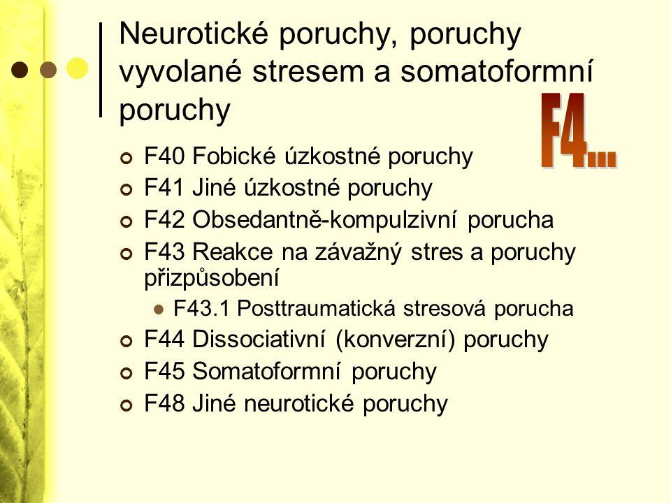 Neurotické poruchy, poruchy vyvolané stresem a somatoformní poruchy