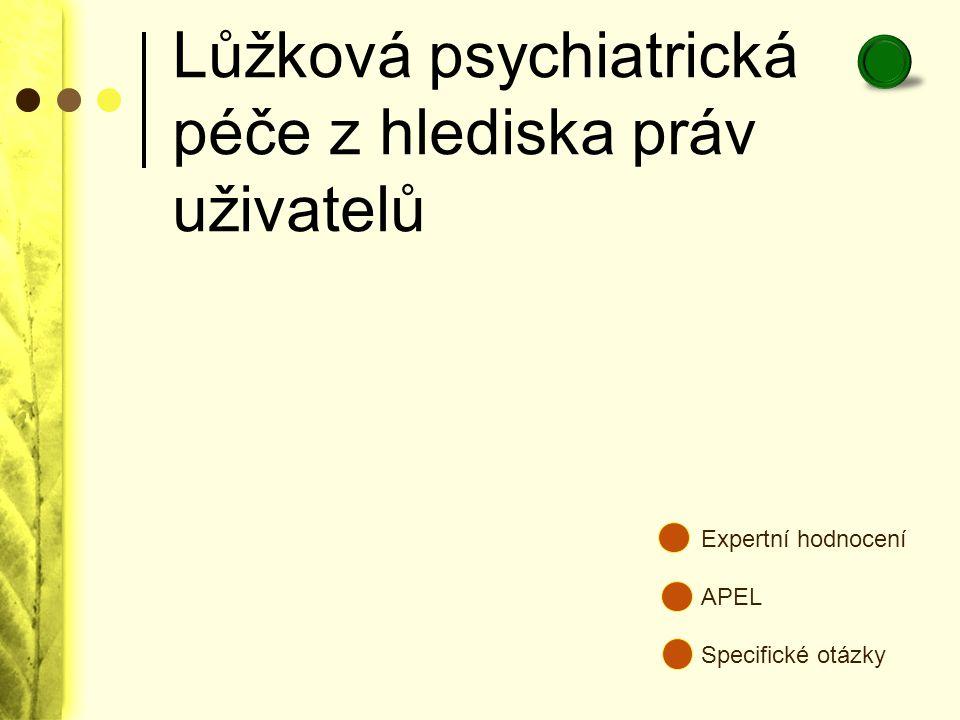Lůžková psychiatrická péče z hlediska práv uživatelů