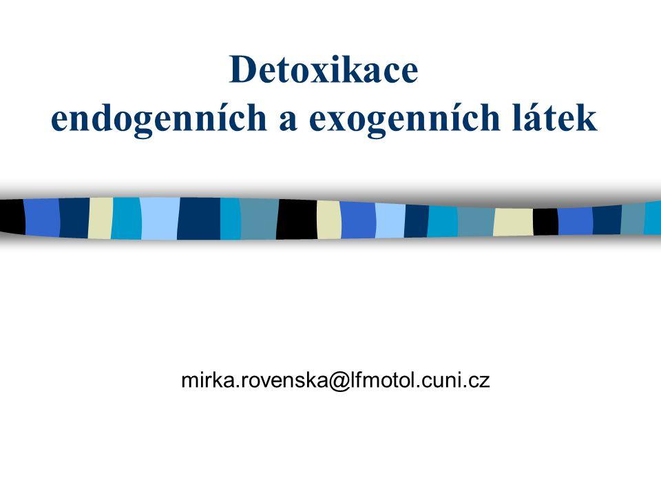 Detoxikace endogenních a exogenních látek