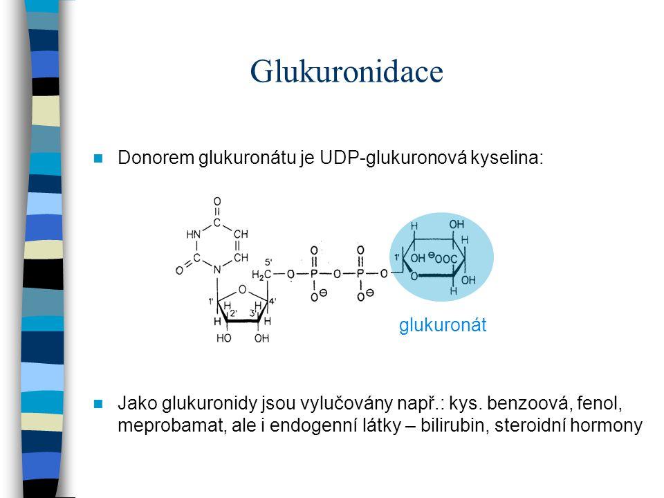 Glukuronidace Donorem glukuronátu je UDP-glukuronová kyselina: