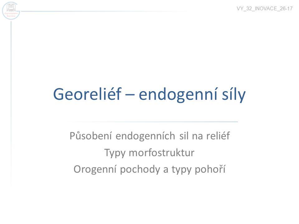 Georeliéf – endogenní síly