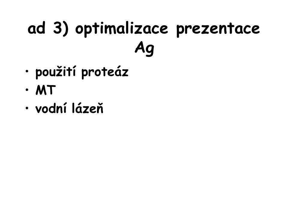 ad 3) optimalizace prezentace Ag
