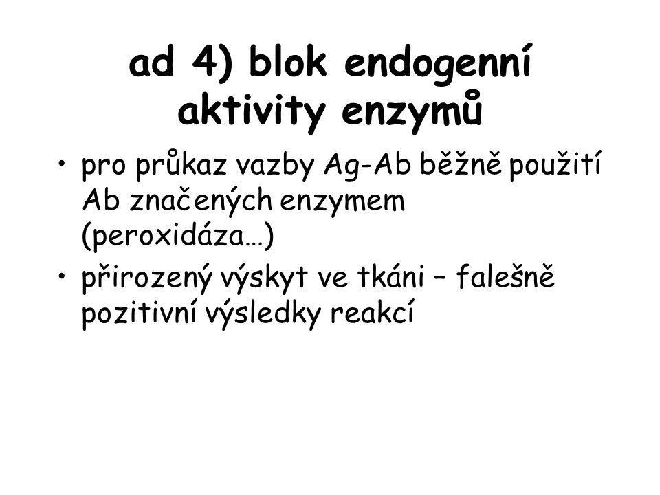 ad 4) blok endogenní aktivity enzymů