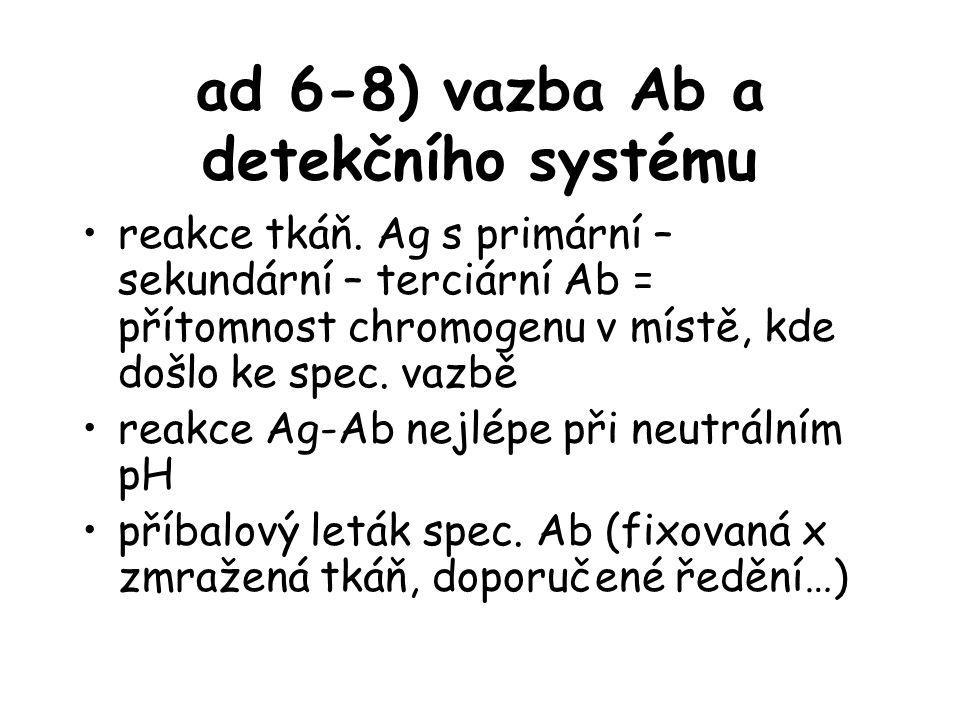 ad 6-8) vazba Ab a detekčního systému