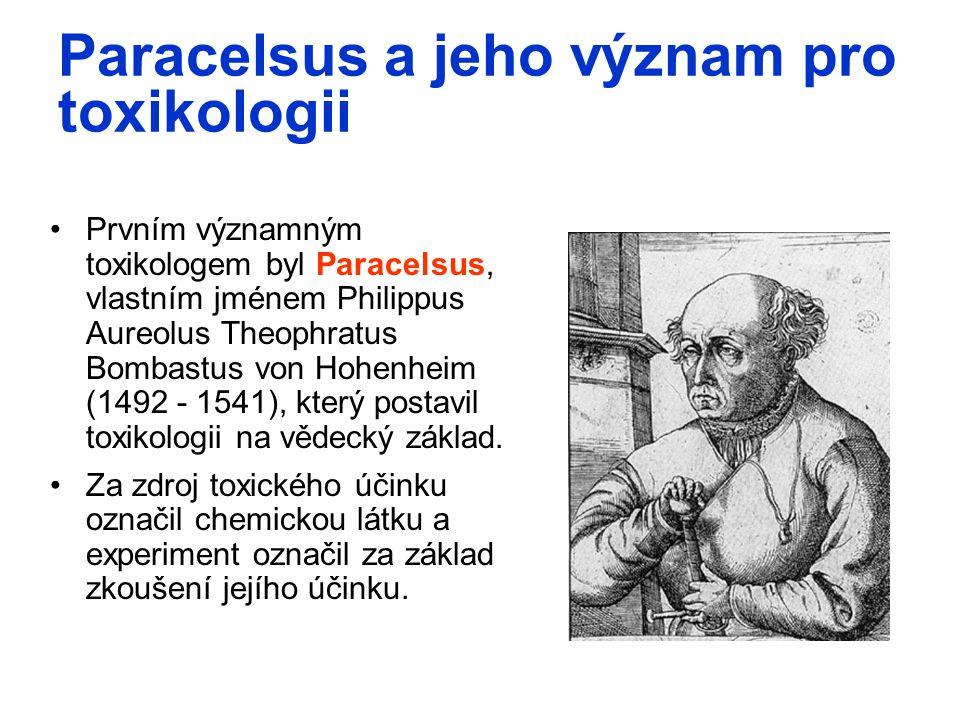 Paracelsus a jeho význam pro toxikologii