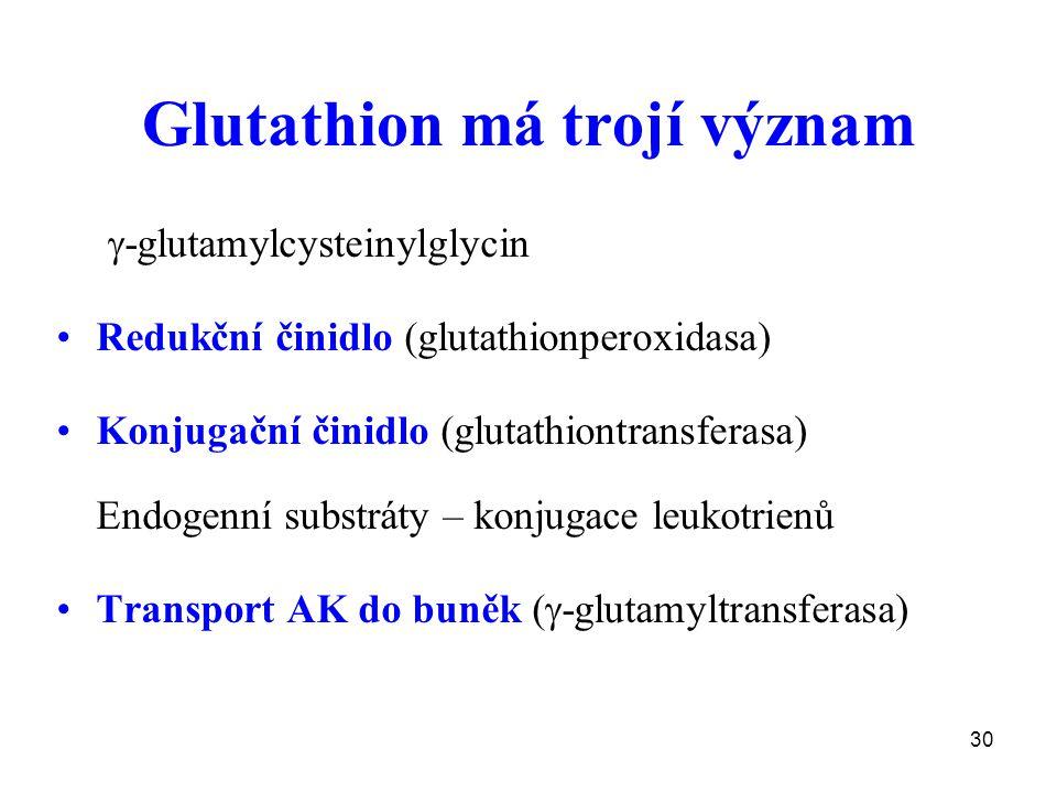 Glutathion má trojí význam