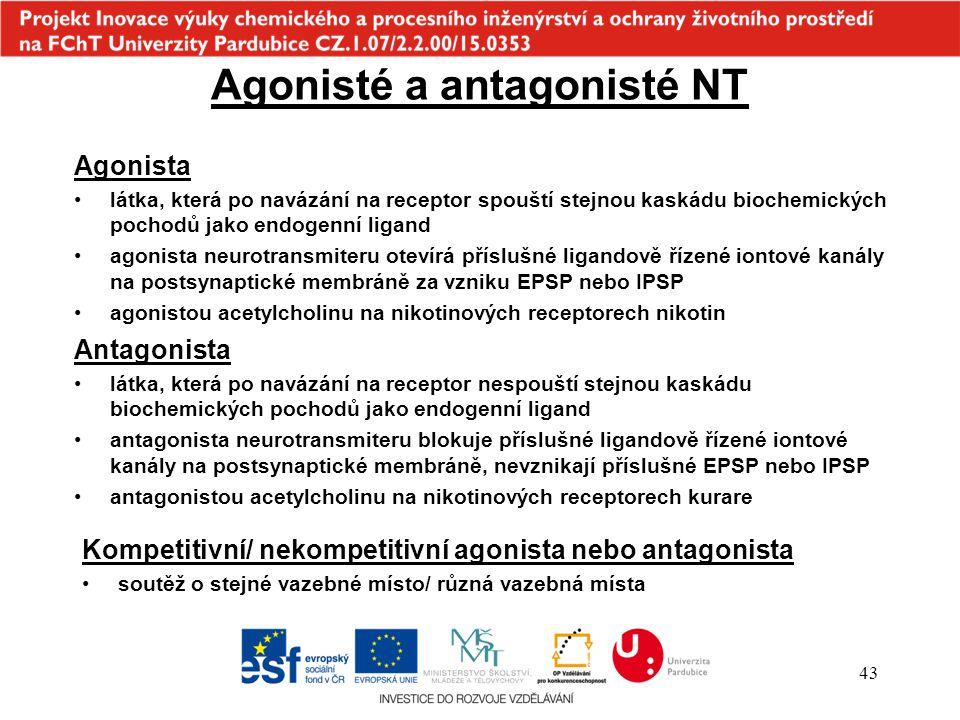 Agonisté a antagonisté NT