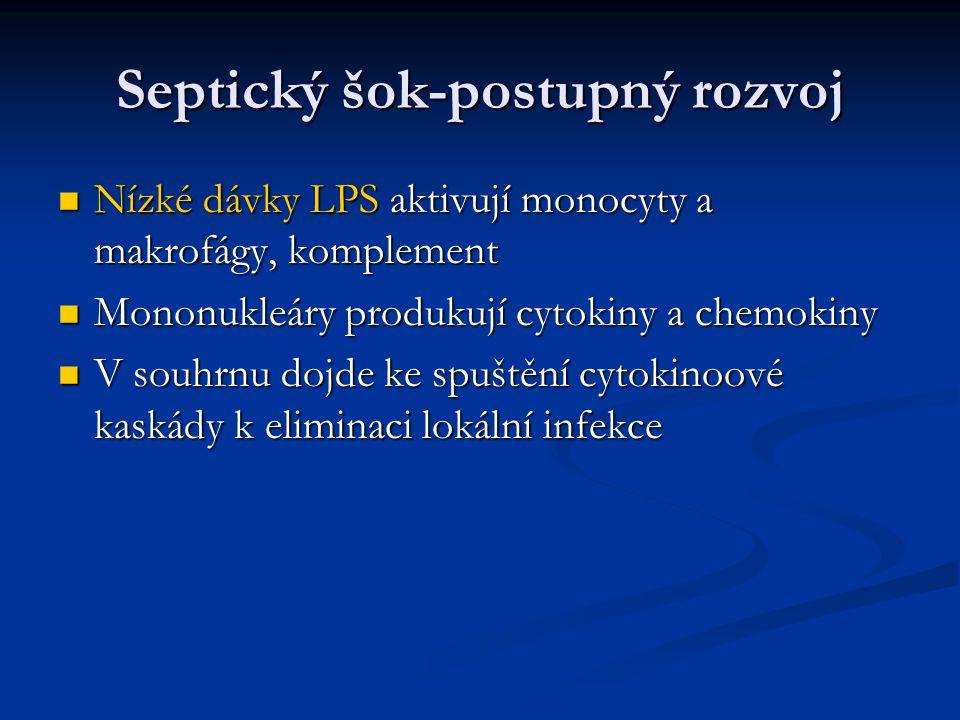 Septický šok-postupný rozvoj