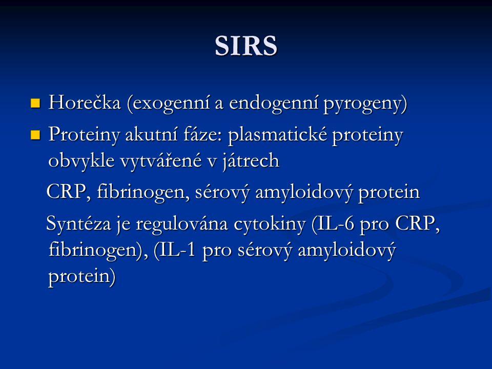SIRS Horečka (exogenní a endogenní pyrogeny)