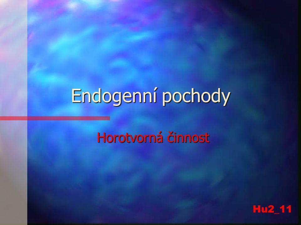 Endogenní pochody Horotvorná činnost Hu2_11