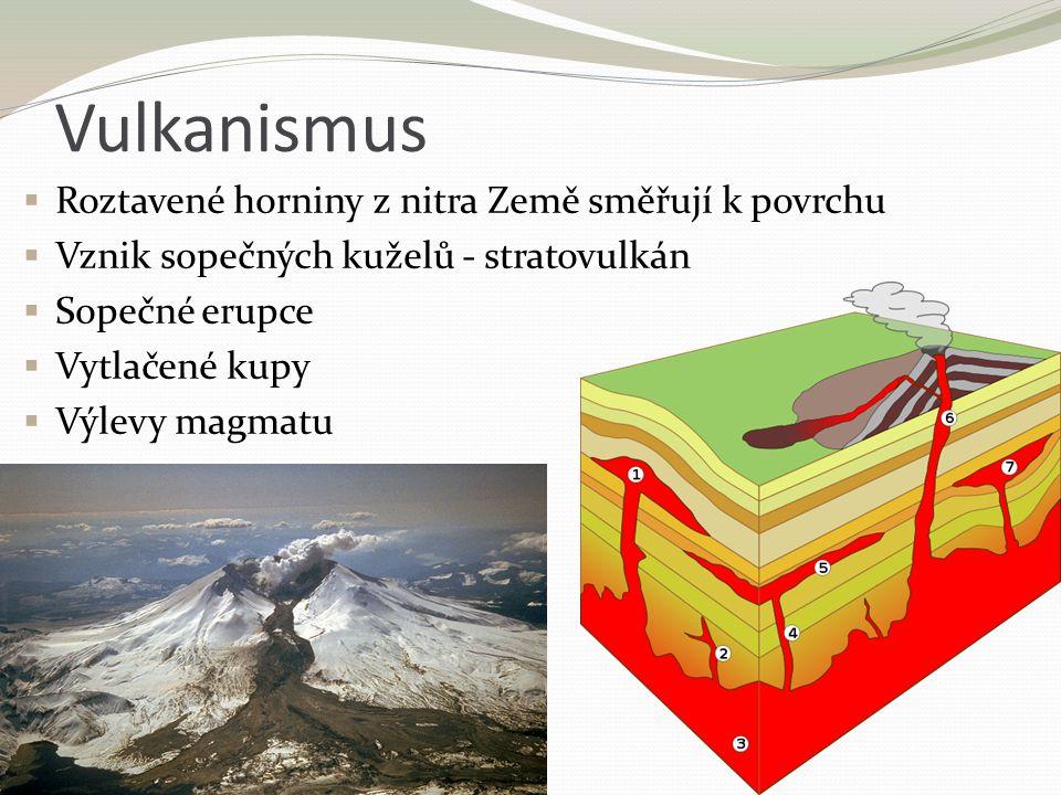 Vulkanismus Roztavené horniny z nitra Země směřují k povrchu