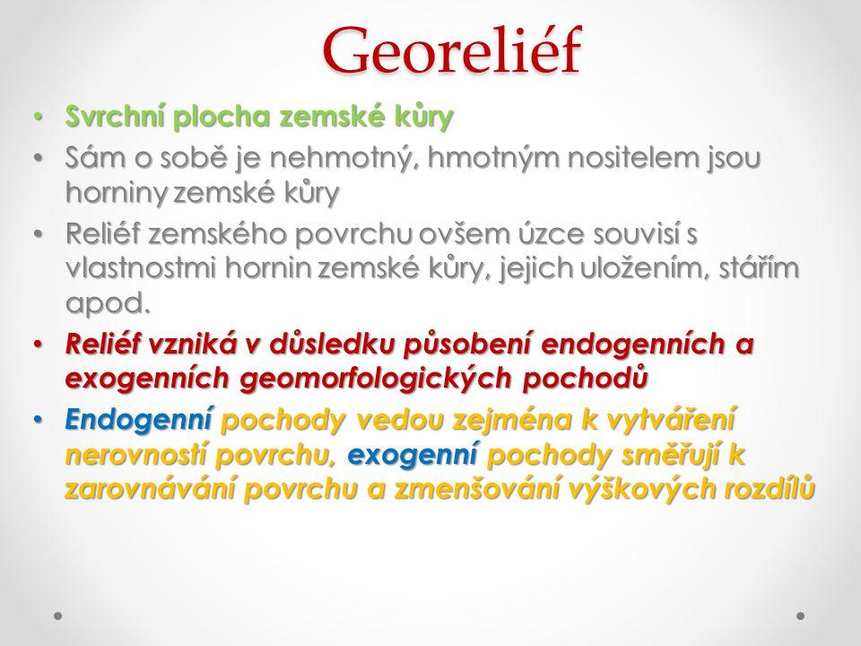 Georeliéf Svrchní plocha zemské kůry