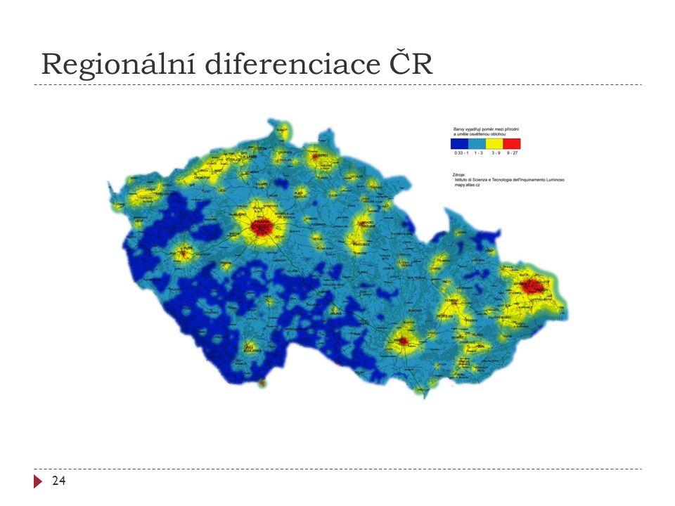 Regionální diferenciace ČR