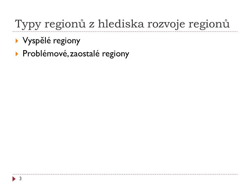 Typy regionů z hlediska rozvoje regionů