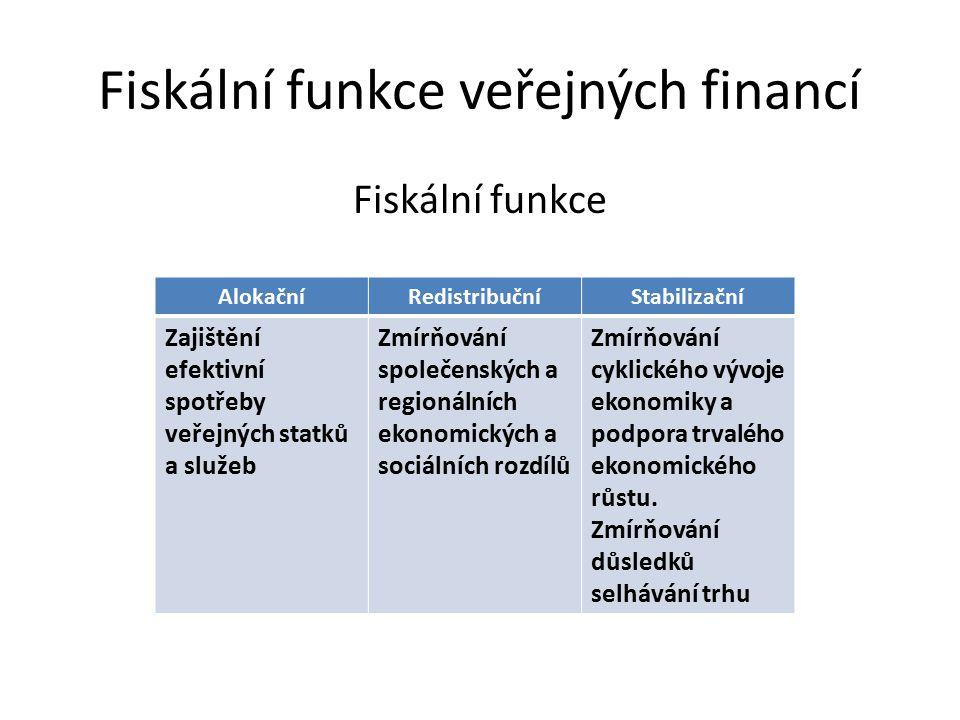 Fiskální funkce veřejných financí