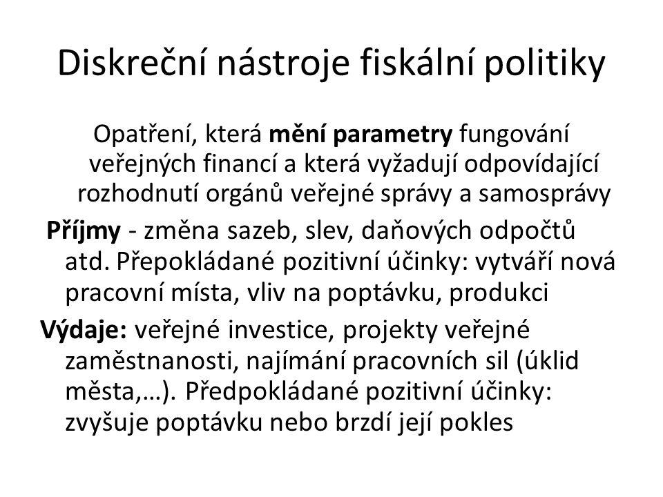Diskreční nástroje fiskální politiky