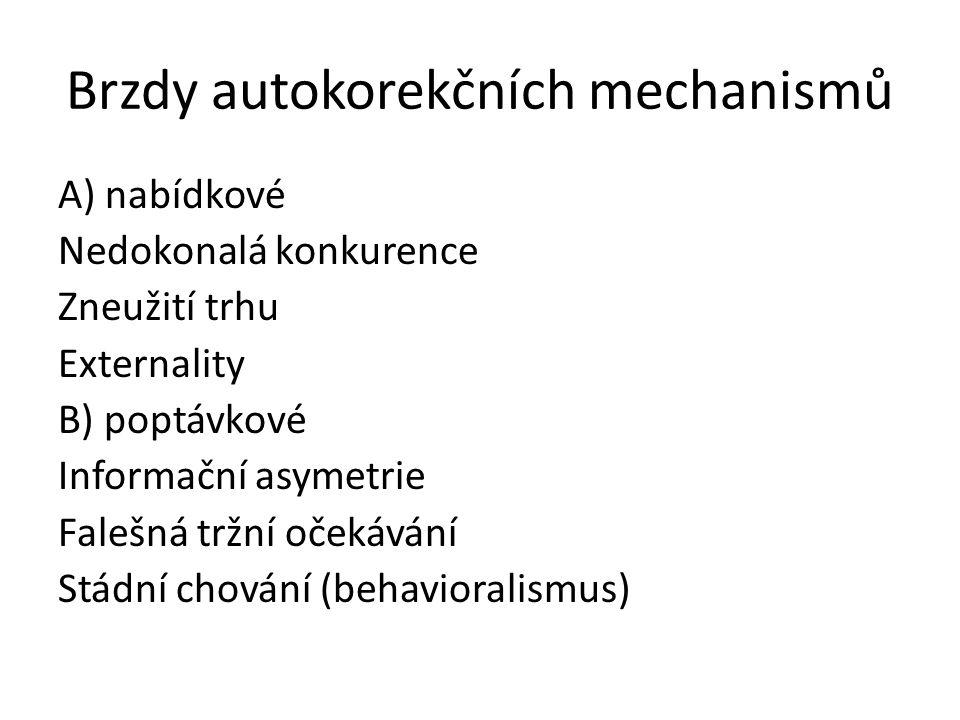 Brzdy autokorekčních mechanismů